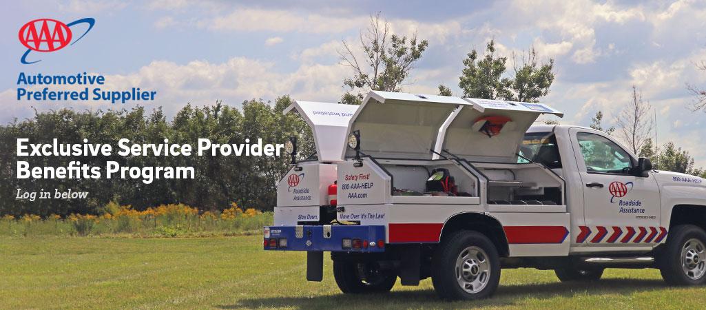 AAA Automotive Preferred Supplier. Exclusive Provider Benefits Program. Log in below.