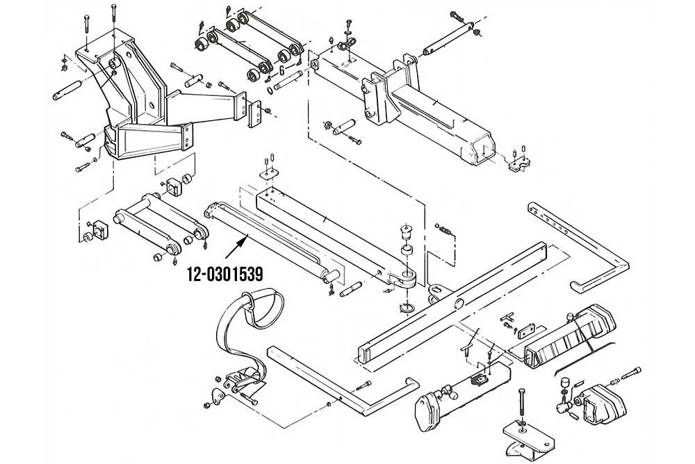 "Miller Wheel Lift Extend Cylinder 2.5"" x 29.75"" Century Metro I"
