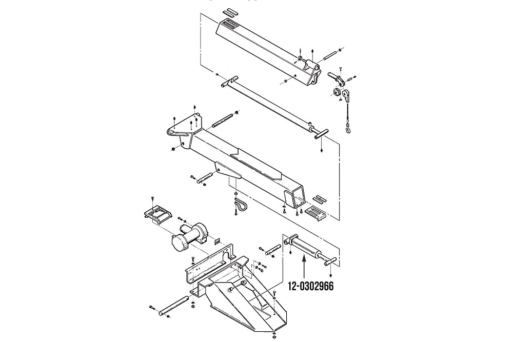 "Miller Boom Lift Cylinder 4"" Bore x 17.5"" Stroke Challenger 4700"