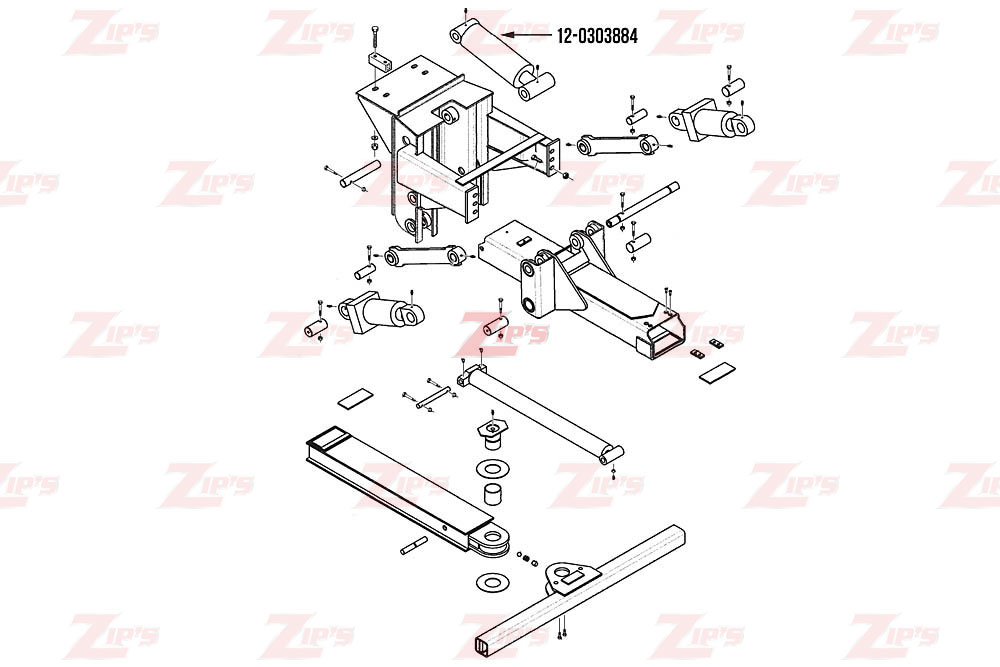 "Miller Wheel Lift Lift Cylinder 5"" Bore Century 614 w/ FII"