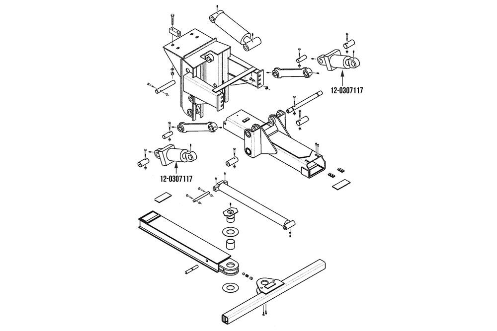 Miller Wheel Lift Tilt Cylinder Formula IIT & Formula III Wheel Lifts Century