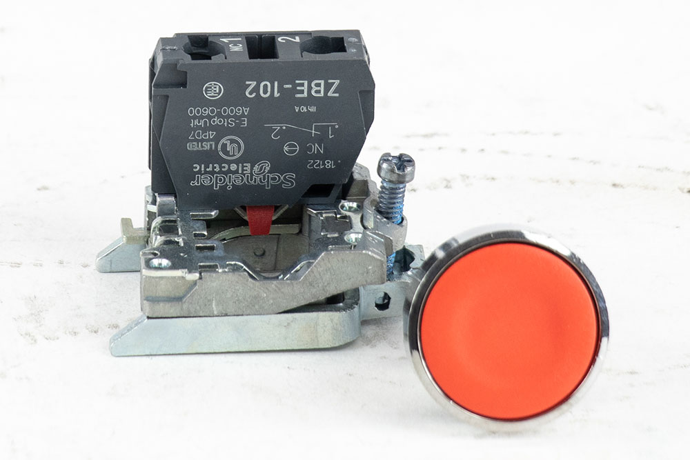 Miller Push Button Operation w/Mount (Red) N/C
