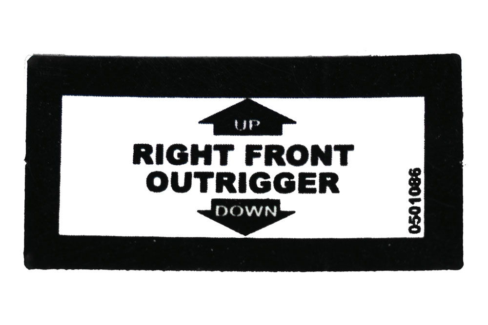 Decal  Rt. Frt. Outrig Up/Dn