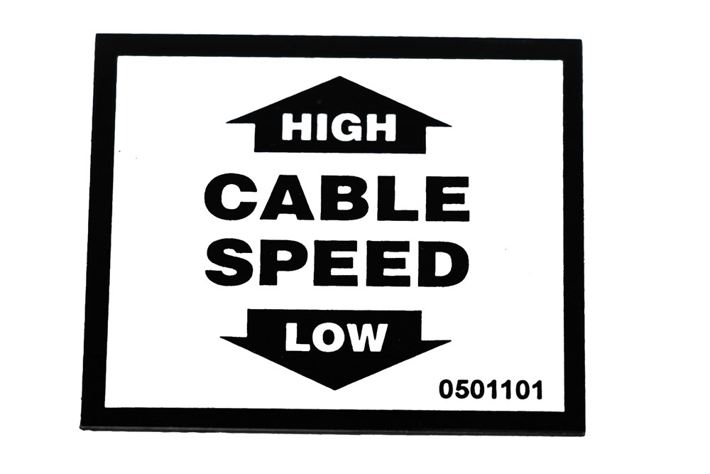 Decal-Ctrl Cable Speed