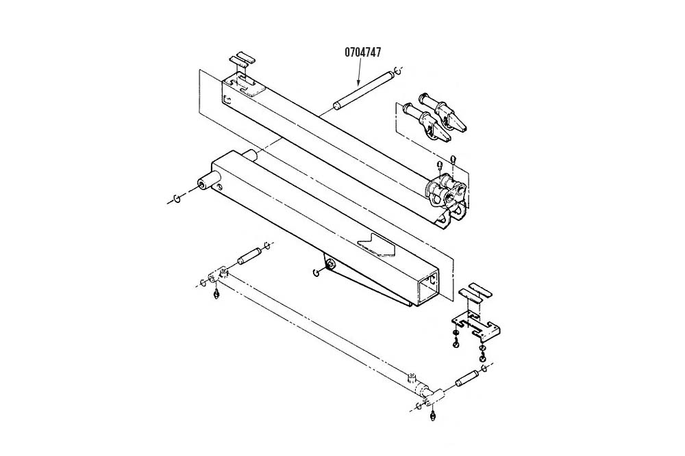 Miller Century Formula I 411 / 412 Boom Pivot Pin
