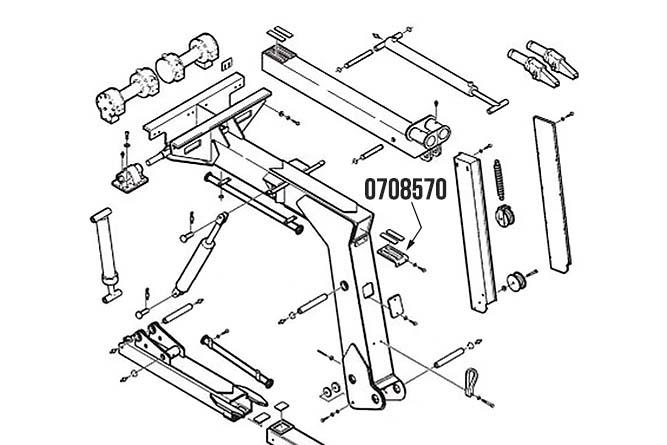 Miller Wear Pad Retainer Century 312 & Challenger 4312