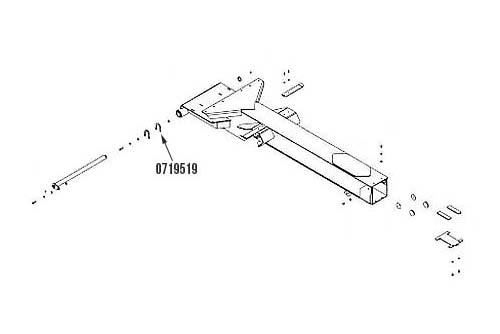 """Miller Vulcan 880 / 890 Series Boom Pivot Pin Shim 5/64"""""""