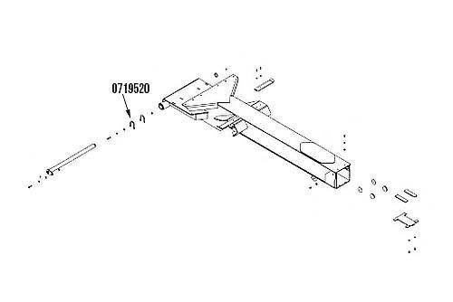 "Miller Vulcan Modular 880 / 890 Boom Pivot Pin Shim 1/8"""