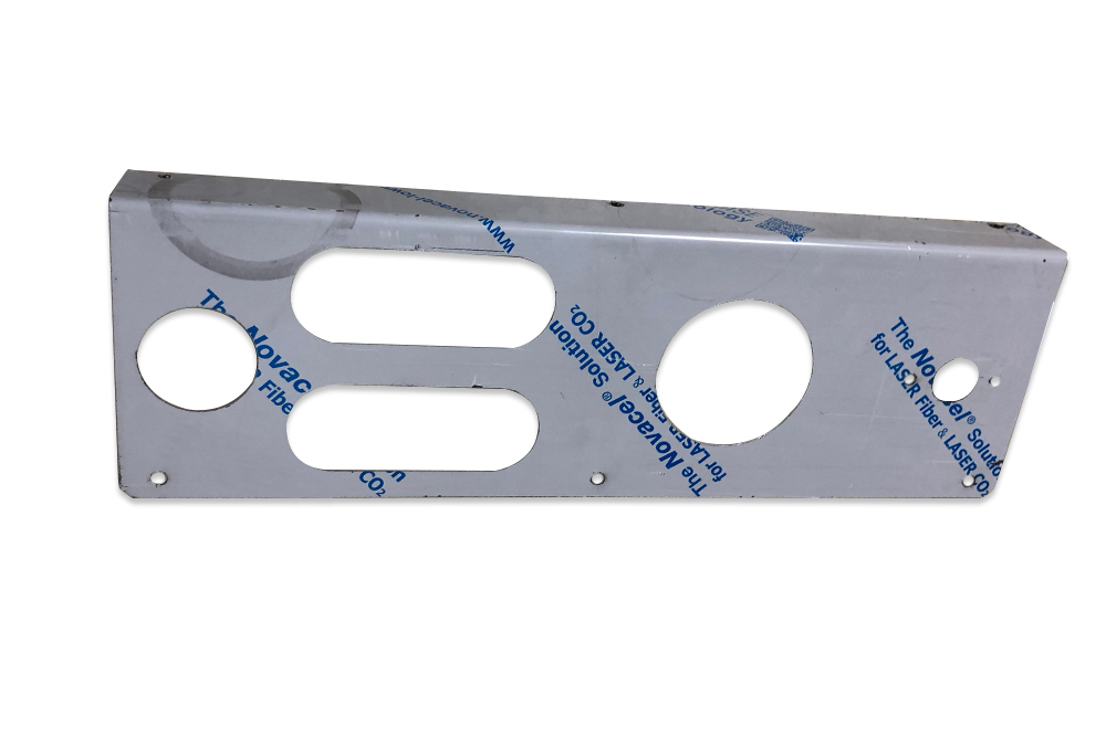 Miller Carrier Tail Light Face Plate Horizontal Lights Right Hand 10 / 15 / 20/ 30S Stainless Steel