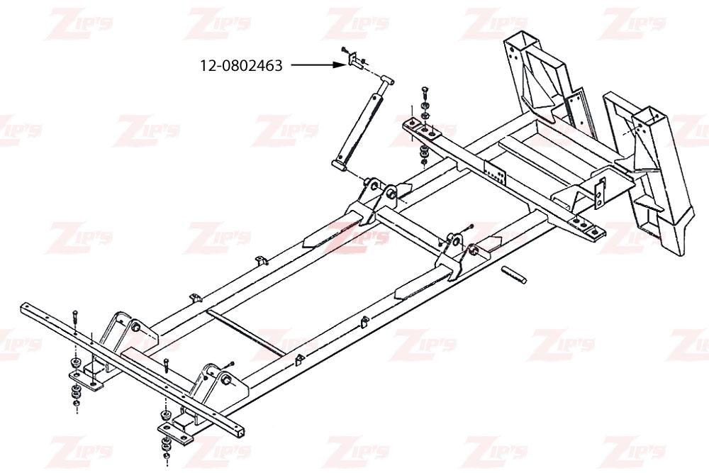 Miller Boom Lift Cylinder Upper Pivot Pin Century & Challenger HD Wreckers