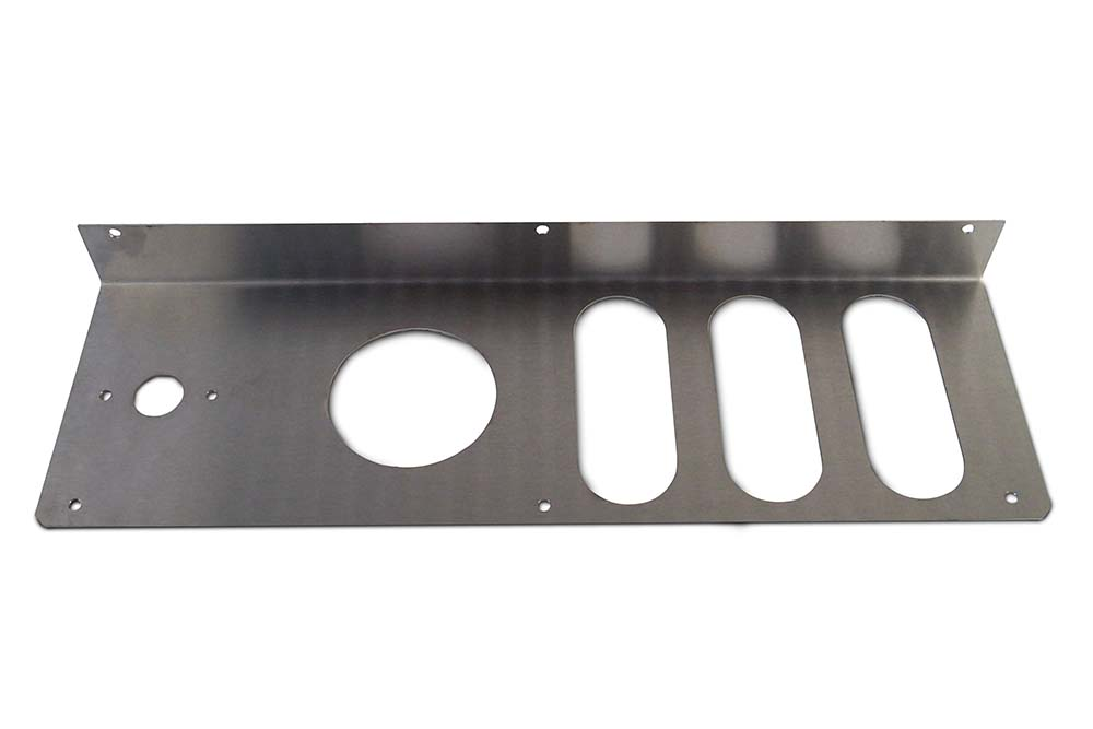 Miller Tail Light Mounting Plate Stainless Steel Right Hand