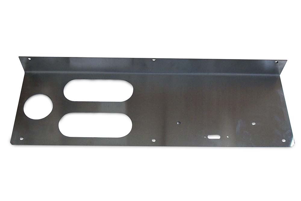 Miller Carrier Tail Light Face Plate Horizontal Lights Left Hand 10 / 15 / 20 / 30 Series Stainless Steel