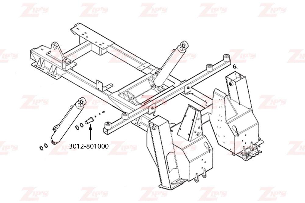 Miller Boom Lift Cylinder Pin Century 3212 & Vulcan V-30 HD Wreckers