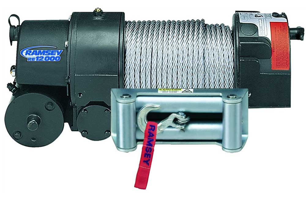 Ramsey Winch 12V DC Commercial-Grade Electric Winch, 12,000-lb. Line ...