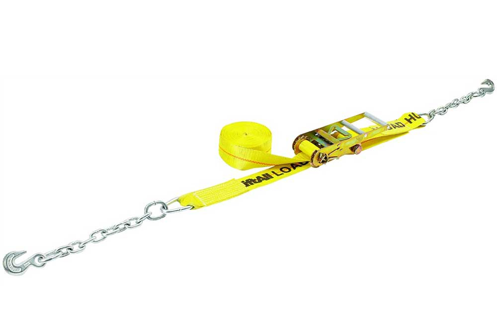 LIFT-ALL Cargo Strap Ratchet Tie-Down with Chain & Long