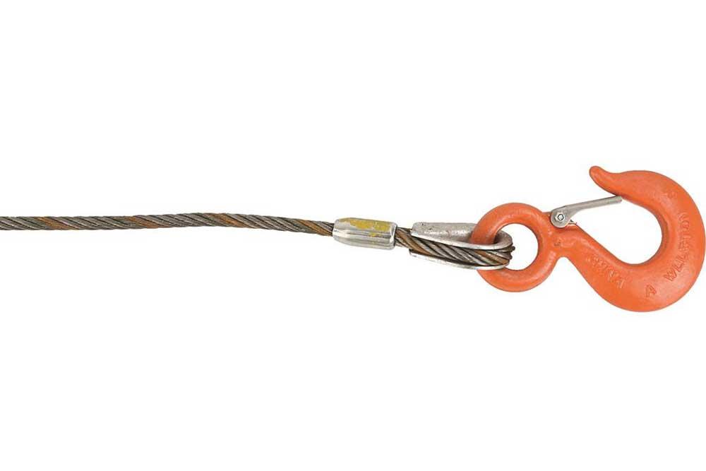 Lift-All Fiber Core Wire Rope, Hook & Latch
