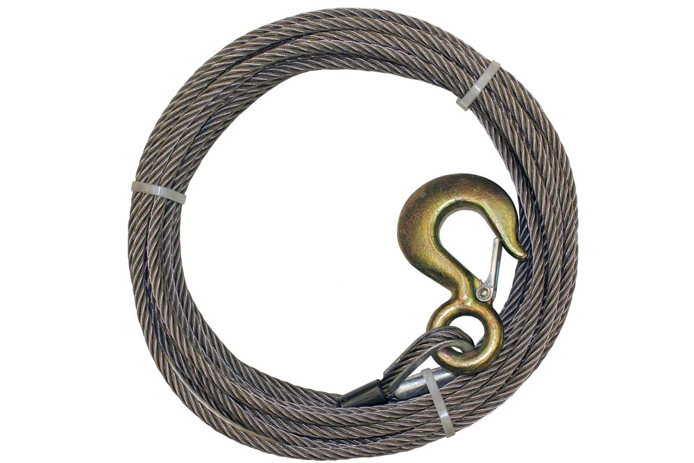 B/A Steel Core Winch Cable with Standard Hook