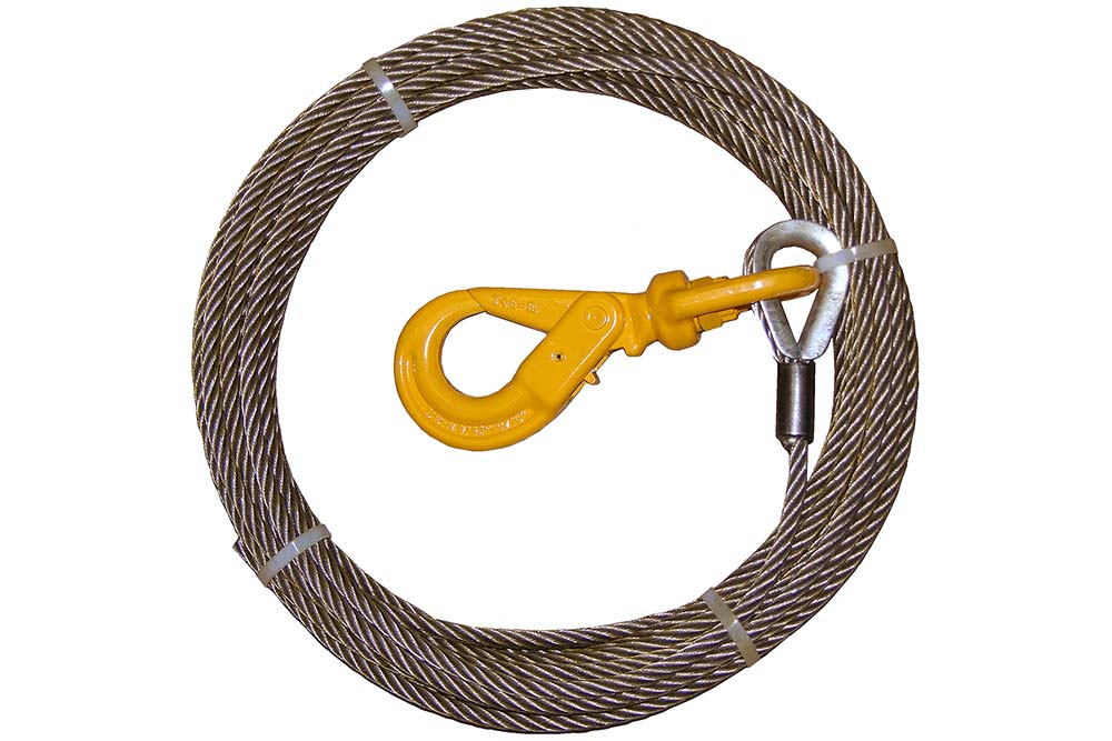 B/A Super Swaged Winch Cable with Self-Locking Swivel Hook