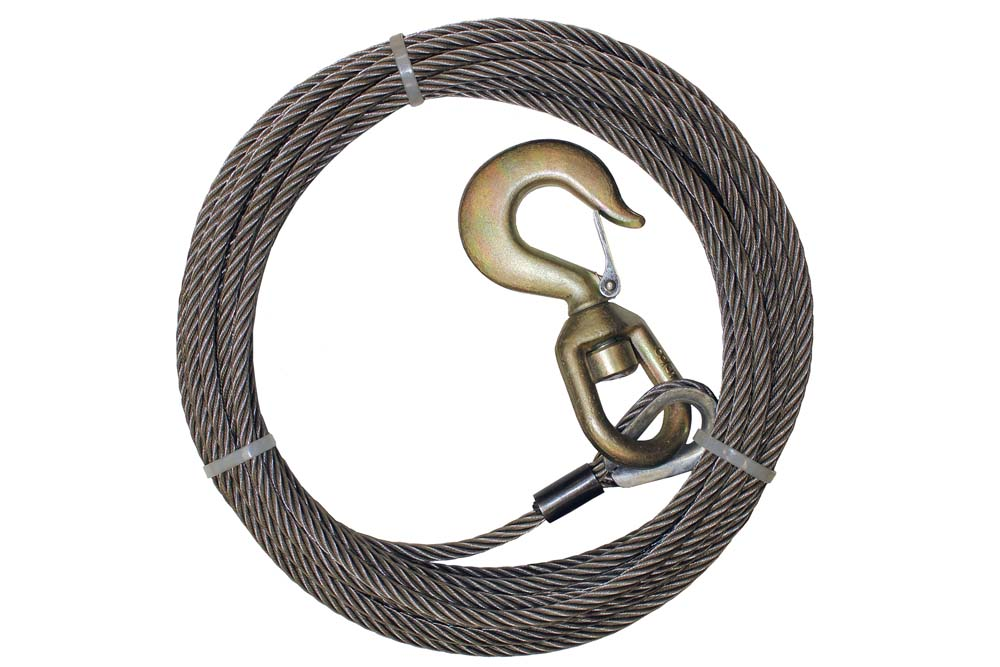 B/A Steel Core Winch Cable with Swivel Hook