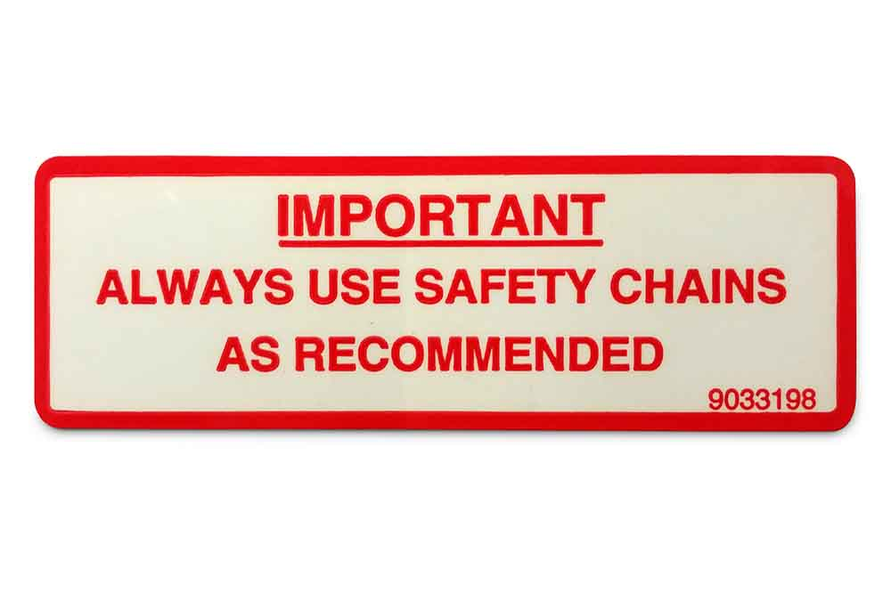 Decal, Safety Chain Warning
