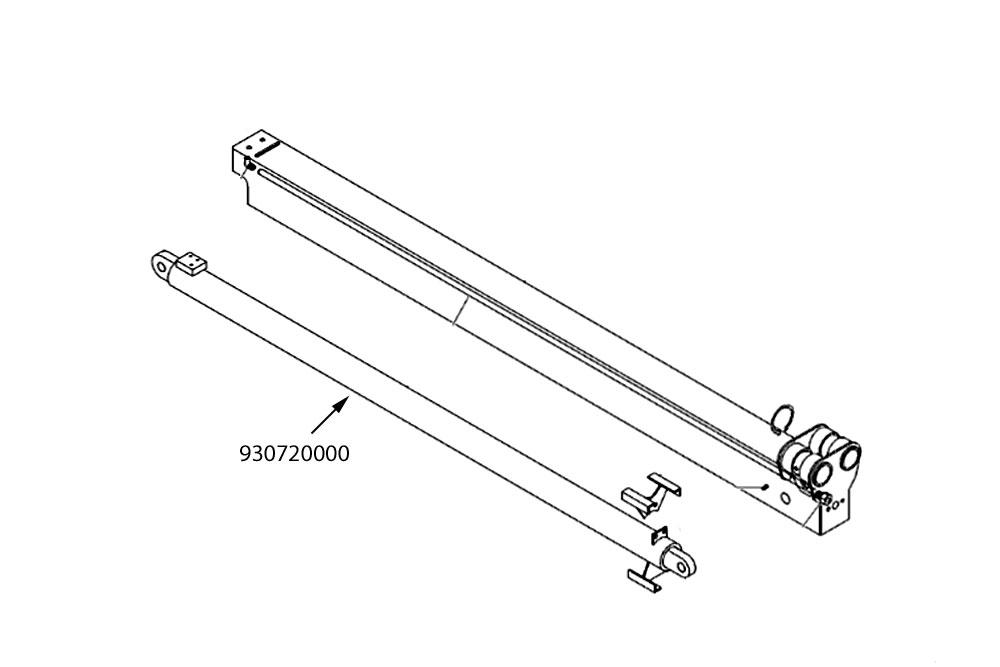 Miller Boom Extend Cylinder Vulcan V-60 V-70 V-90 & V-100 HD Wreckers