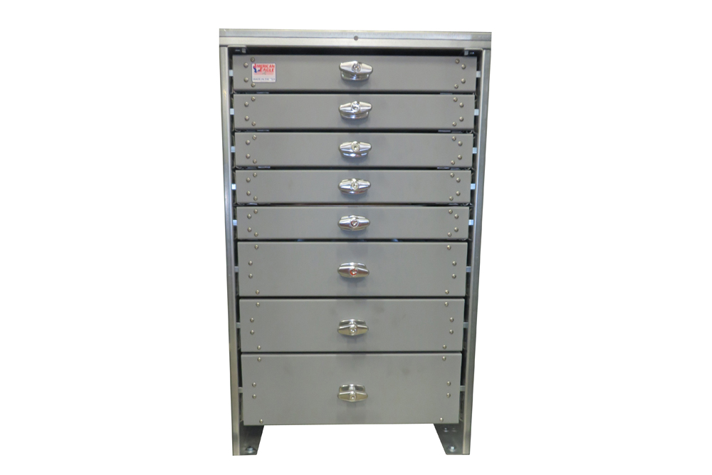 American Eagle Toolbox Eight Drawers Twenty Two Inch Drawers