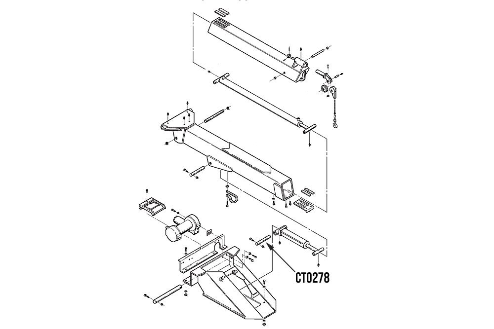 miller base end boom lift cylinder pin challenger 4700 4800 rh zips com 2 Post Car Lift Parts Hydraulic Jack Schematic