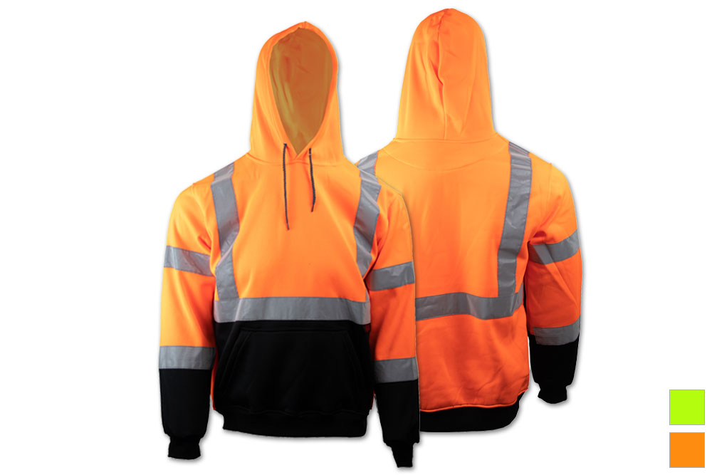 GSS Safety Class 3 Pullover Hooded Fleece Sweatshirt - Orange Parent