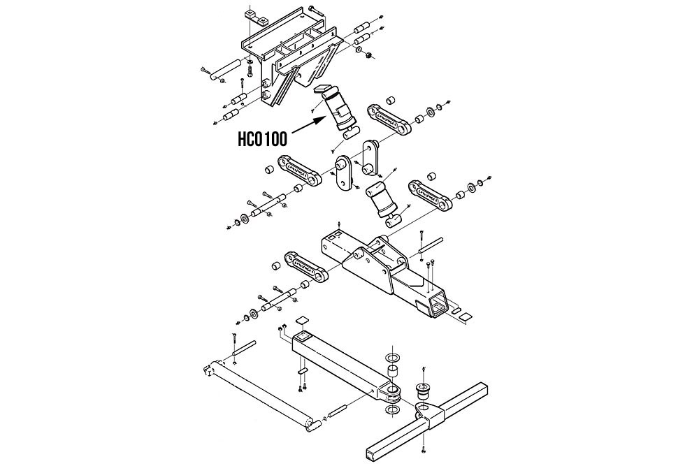 "Miller Wheel Lift Lift Cylinder 5"" Bore x 93/4"" Stroke Challenger 4800 Series"