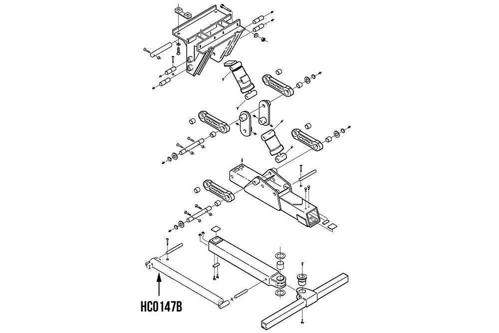 Miller Wheel Lift Extend Cylinder, Challenger 4800 Series, NOT AVAILABE