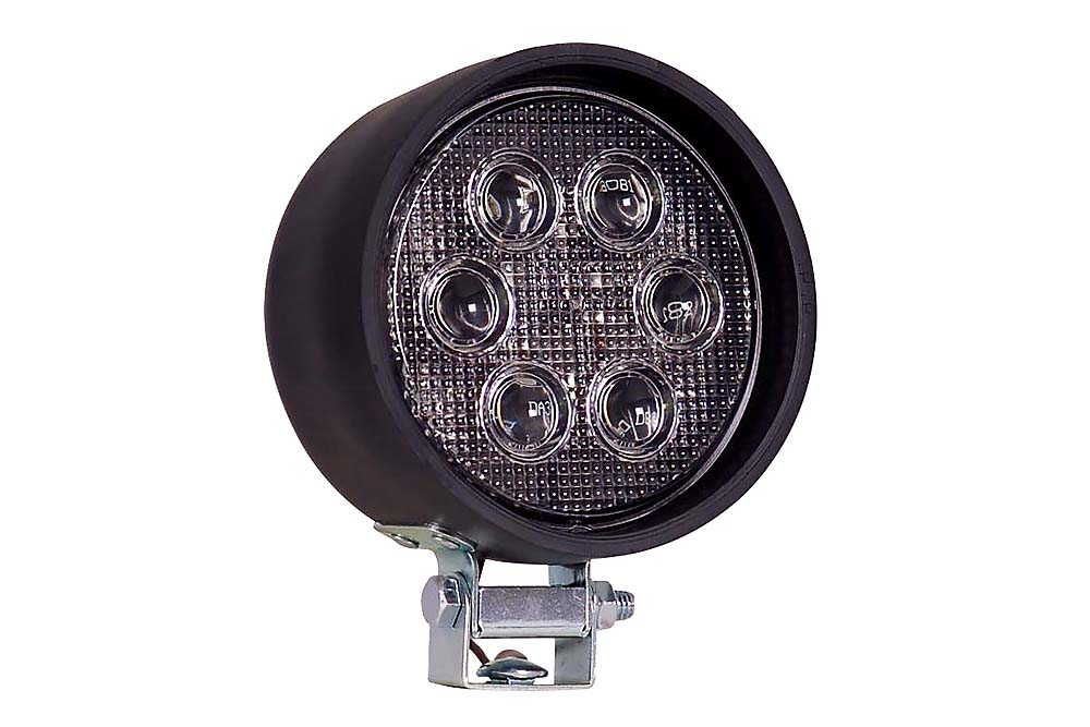 Maxxima 4 Round Work Light Rubber Housing 6 Leds 700 Lumen