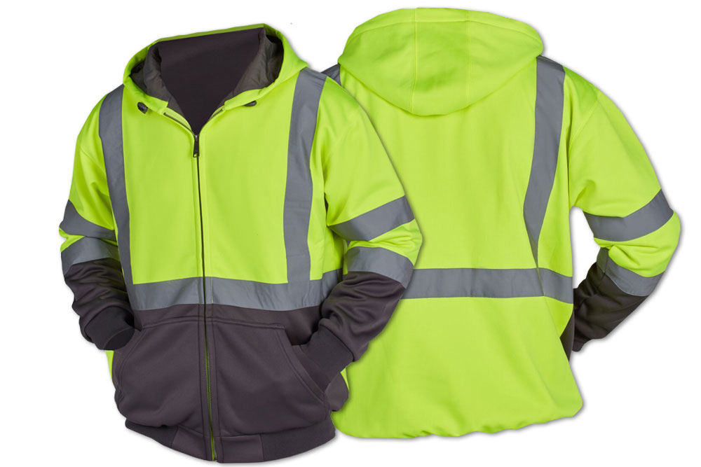 Utility Pro Class 3 Full-Zip Hooded Sweatshirt - Lime Parent