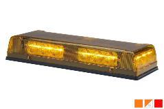 whelen responder lp r1 series super-led mini lightbar, polycarbonate base