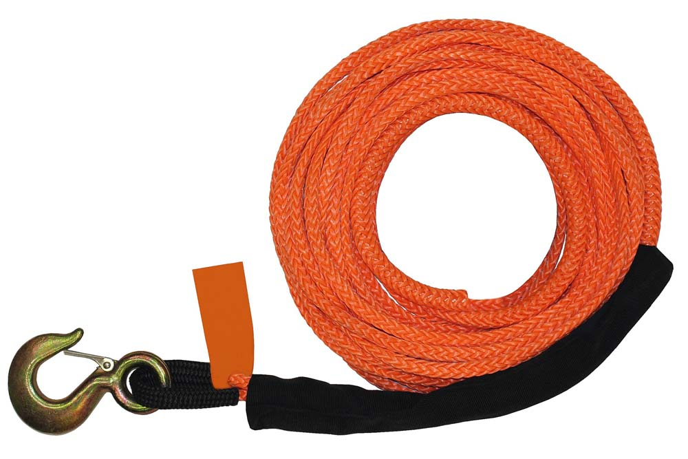 B/A Synthetic Rope Winch Line with Hoist Hook