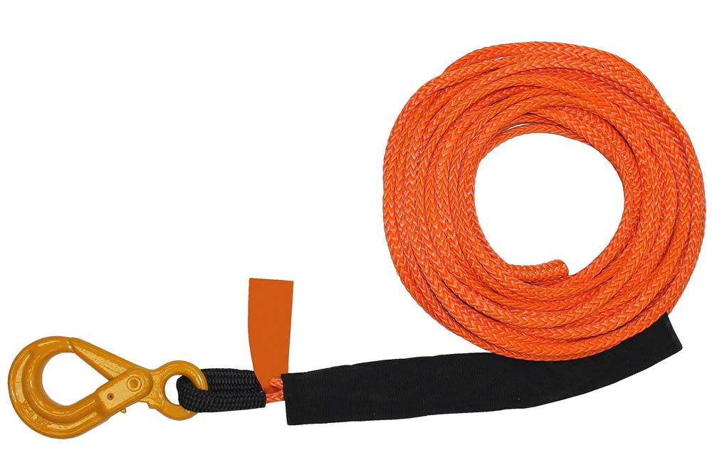B/A Synthetic Rope Winch Line with Self-Locking Hook