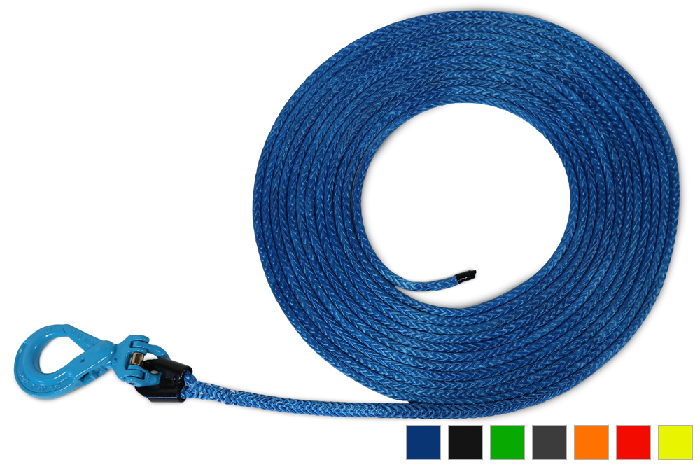 "AmSteel-Blue Synthetic Winch Lines w/ Self-Locking Hook | 9/16"" - 7/8"""