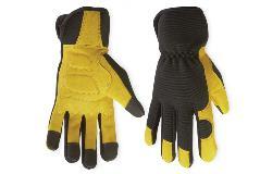 Richlu Tough Duck Gloves, Black and Gold Work Gloves G22016