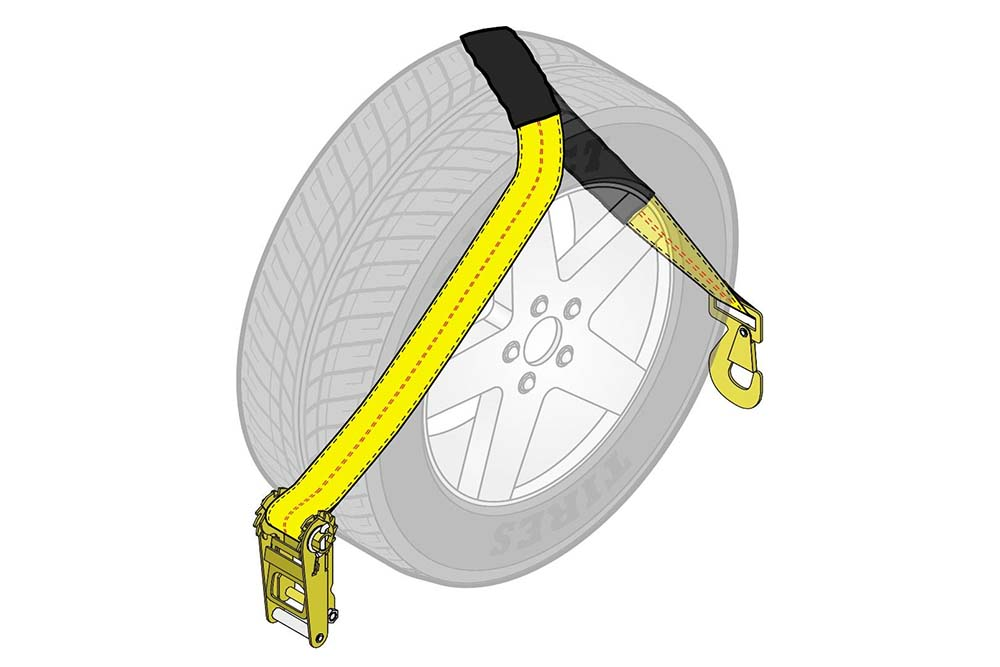 Aw Direct Tow Pro Wheel Lift Tie Down Strap With Flat Snap Hook And Sliding Protective See our full product line now; aw direct