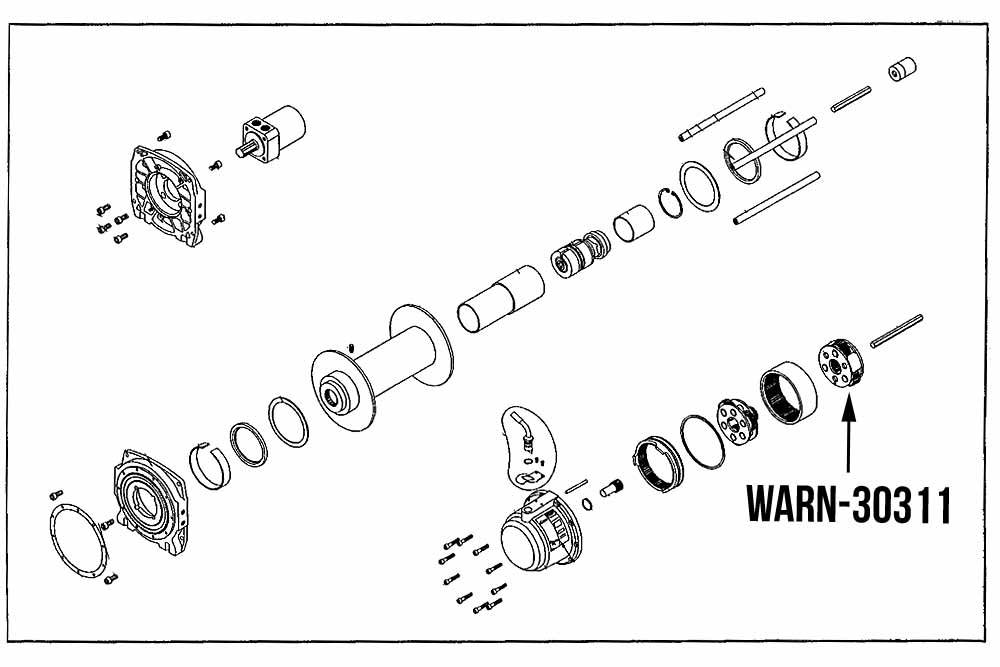 Wiring Diagram Database: Warn Winch 2500 Parts Diagram