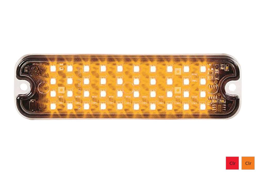 Rectangle Warning Light Amber