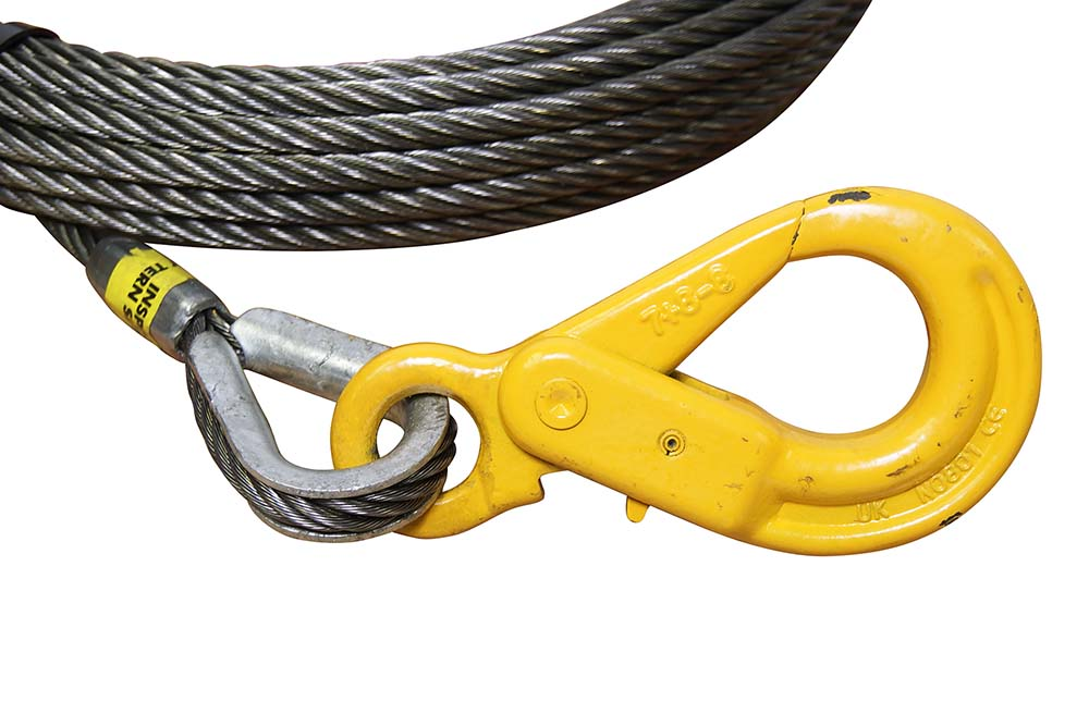 "3//8/"" X 35/' Swivel Eye Hoist Hook WINCH LINE Tow Truck Wrecker Cable Fiber Core"