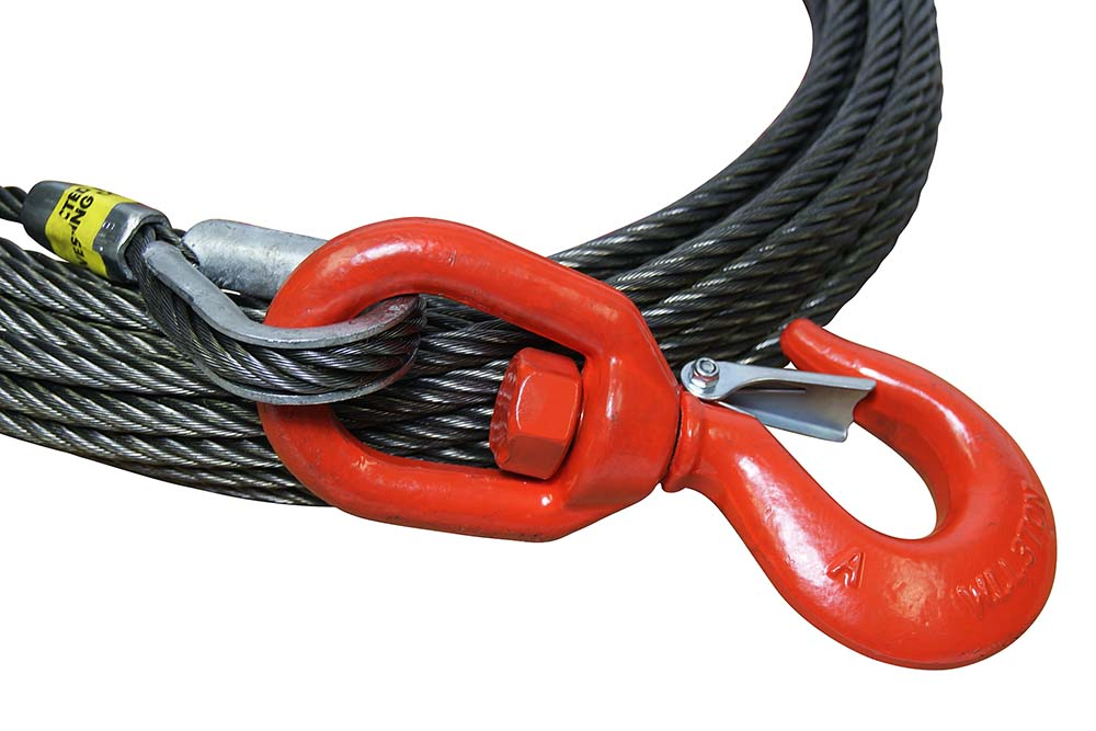 All-Grip Steel Core Winch Cable with Swivel Hook