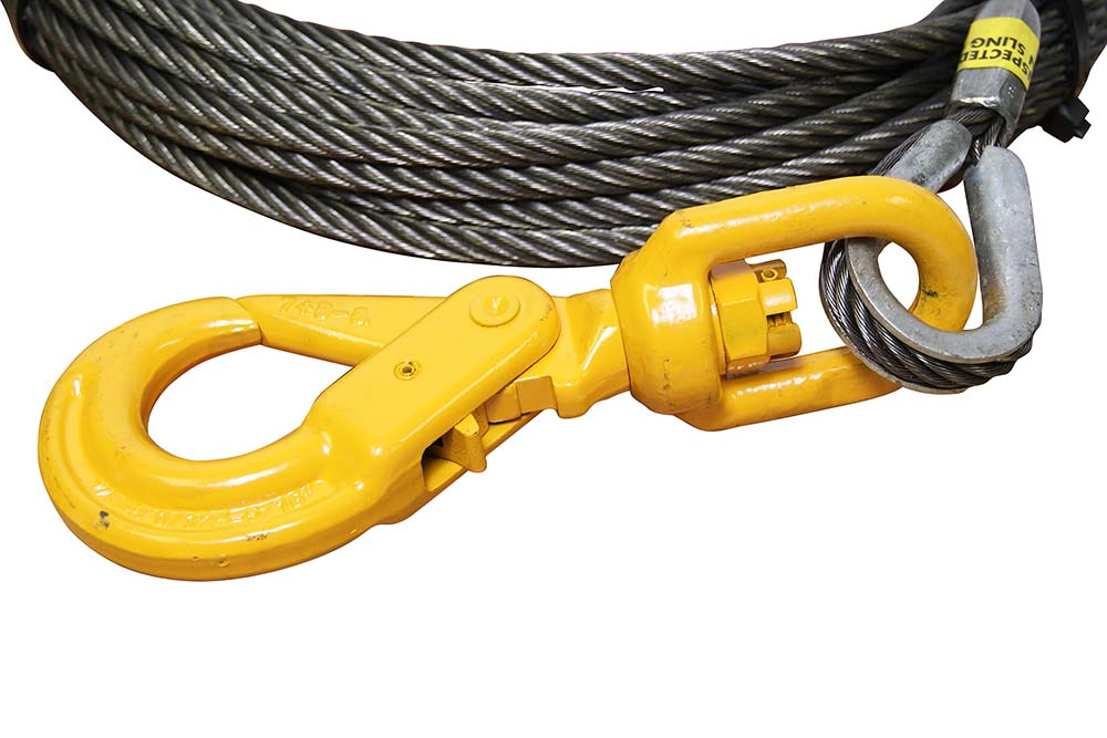 All-Grip Super Swaged Winch Cable w/ Self Locking Swivel Hook