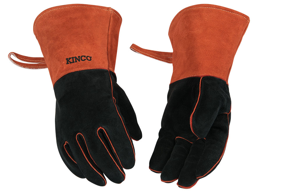 Kinco Cowhide Leather Welding Fireplace Gloves