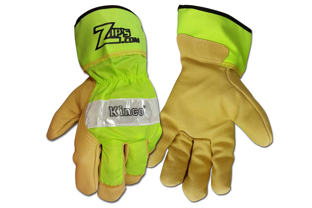 Zip's Logo Lime Green Gloves