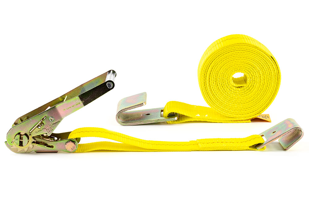 Zip's Ratchet Tie-Down Assembly w/ Flat Hooks