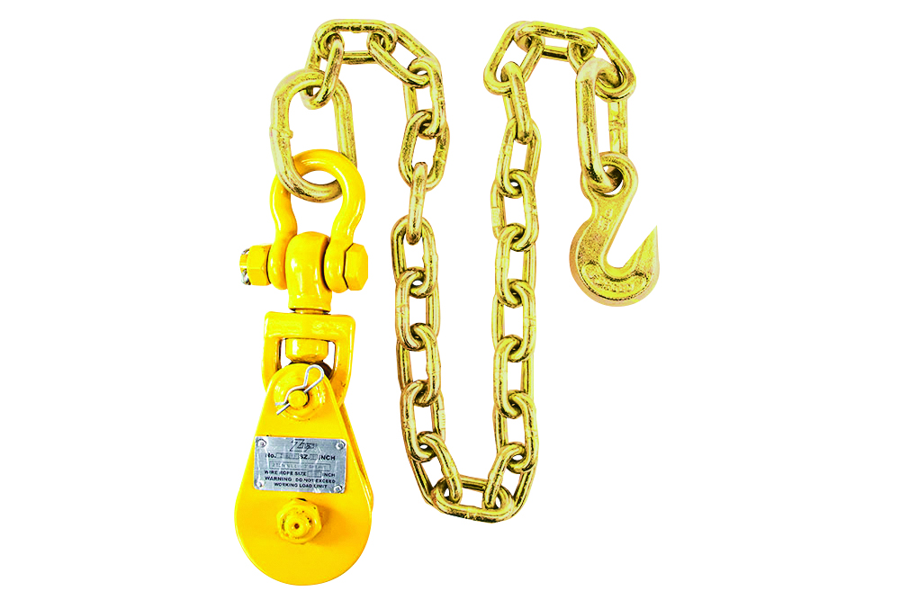 Zip's Snatch Block with Chain & Grab Hook